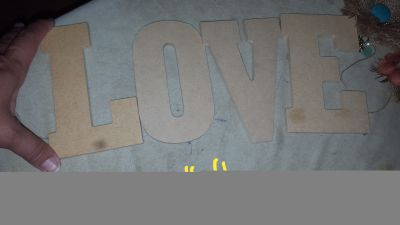 Wood letter love new