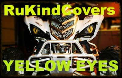 "Find Yamaha 660 Raptor REAPER Eyes HeadLight Covers ""ORIGINAL RUKINDCOVERS"" ALL YEARS motorcycle in Medina, Ohio, United States, for US $18.00"