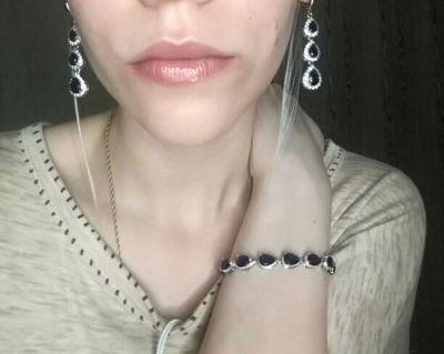 Sterling Silver Jewelry Sets For Women Earrings/Pendant/Necklace/Bracelet