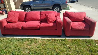 Comfy couch and oversized chair