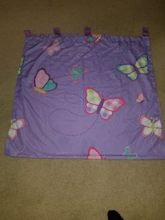 girls 2 panel purple curtains