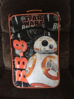 STAR WARS child s suitcase on rollers