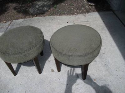 REDUCED ...SET OF OTTOMANS MINT...REDUCED