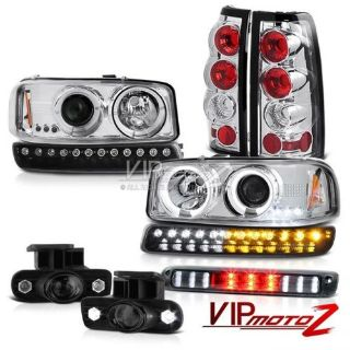 Find 99-02 Sierra 2500 3RD Brake Lamp Smokey Fog Lights Tail Lamps Parking Headlamps motorcycle in Walnut, California, United States, for US $323.39
