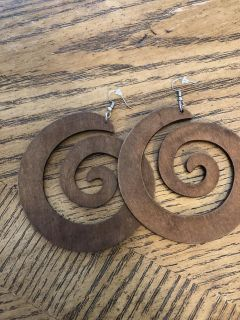 Extra-Large Wood Earrings
