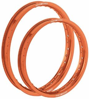 Buy MOOSE RIM SET ORANGE 19x2.15 21x1.60 KX KLX KDX KXF RM RMZ DRZ WR YZ YZF KTM motorcycle in Salt Lake City, Utah, United States, for US $239.90