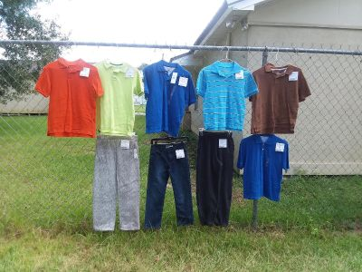 6 polo shirts 2 are new tommy hilfiger and 3 pants one ralph lauren one new with tags 9 pc total $2-$10 or $42 for all