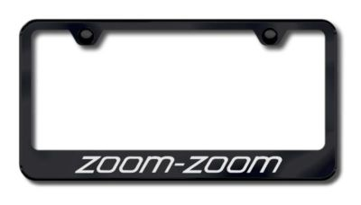 Sell Mazda Zoom Zoom Laser Etched License Plate Frame-Black Made in USA Genuine motorcycle in San Tan Valley, Arizona, US, for US $34.49