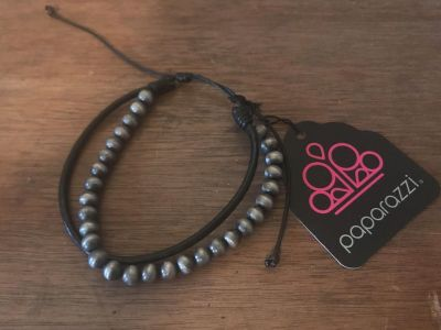 Paparazzi Urban Collection Leather w Beads Bracelet