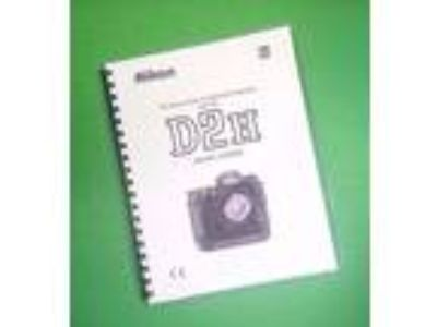LASER PRINTED Nikon Camera D2H Manual, User Guide 264 Pages