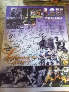 1999 LSU Football Team Signed Poster! 41 Signatures! 12 All-SEC Players! 3 All-Americans! NFL Stars!