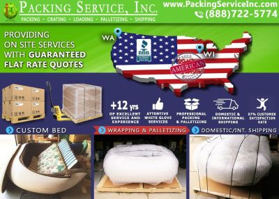 Packing Service, Inc. Flat Rate Shipping Quotes and Palletizing Furniture - Ft. Lauderdale, Florida