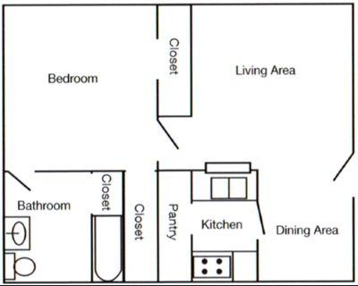 1 bedroom in Huffman