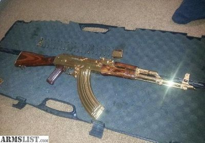 For Sale: AK 47 Gold Plated