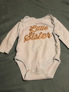 Carters 3 Month onesie used no stains
