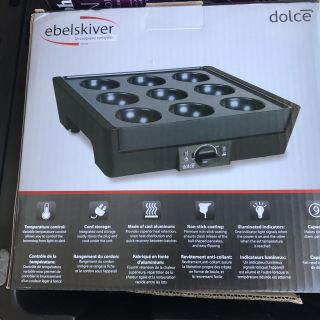 ELECTRIC FILLED PANCAKE MAKER EBELSKIVER DOLCE FROM WILLIAM SONOMA. - NEW