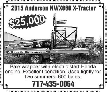2015 Anderson NWX 600 X-Tractor Bale Wrapper for sale in Stevens, PA.