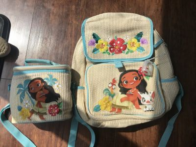 Moana Backpack and lunch box