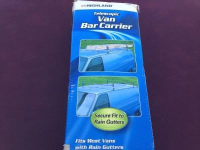 HEAVY DUTY VAN ROOF TOP BAR CARRIER LADDER / LUMBER / ETC.