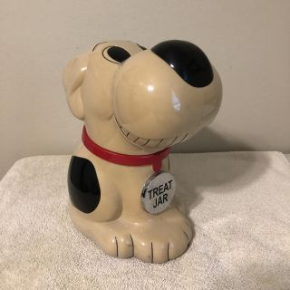Vintage Musical Dog Treat Container