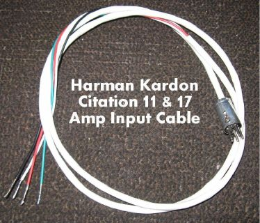 *~~~ Harman Kardon Citation 11 or 17 ~ Amplifier Connection Cable ~~~*