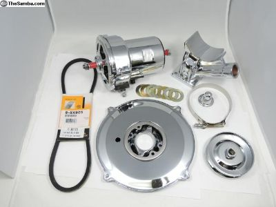 Chrome Alternator Complete Kit 60amp