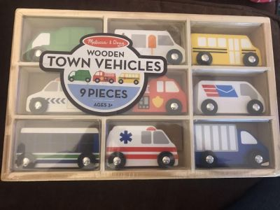 New Melissa and Doug Wooden Cars
