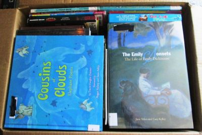Over 120 cases of Children's Books For Sale (6-26-18) $10.00 per case & other Books, DVDs for sale.