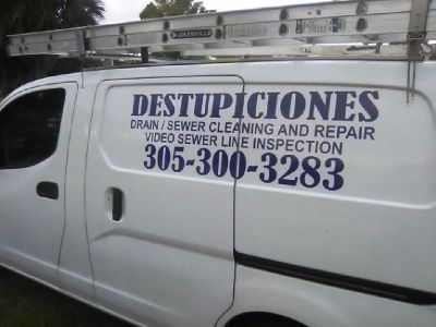 SUNRISE  DESTUPICIONES,  DRAIN CLEANING  786 334 2631