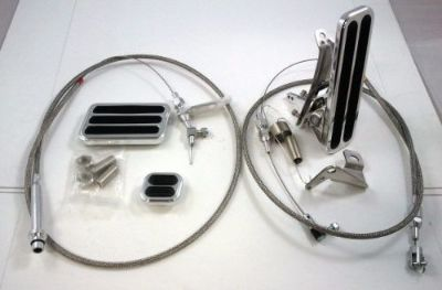Sell Billet Floor Mount Throttle / Gas Pedal Kit W/ Braided Cable & TH350 Kick Down motorcycle in Chatsworth, California, United States, for US $126.74