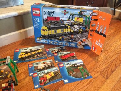 HUGE Remote Control LEGO Train Set City #7939 Huge Train Awesome! X-trax included!