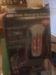 $30, Homedics Quad-Roller Massaging Cushion with Heat and Remote- New in box