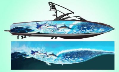 Find Marlin Hunters Boat Wrap * New Fish Design * Customized for your boat motorcycle in Naples, Florida, United States, for US $750.00