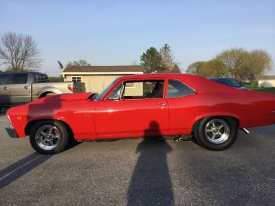 1969 v7 ysi race Procharger 275 radial street/strip nova