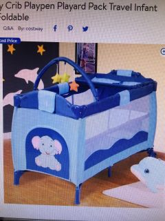 New in box play pin with changing table