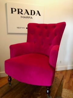 World Market Fuchsia Arm Chair