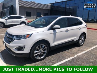 2018 Ford Edge Titanium (White Platinum Clearcoat Metallic)