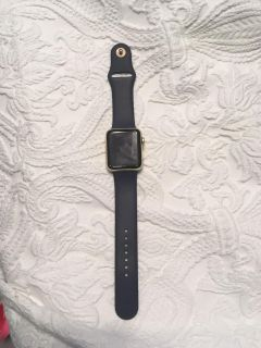 Newest model Apple Watch Navy and rose gold