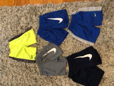 Nike & UA shorts lot! All in GUC! All for $12! Would like to sell together . Size 4T.