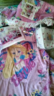 barbie bedding and misc.