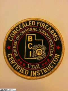 For Sale: UTAH INSTRUCTOR CLASS