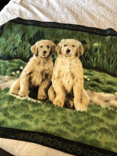 Adorable puppy throw blanket