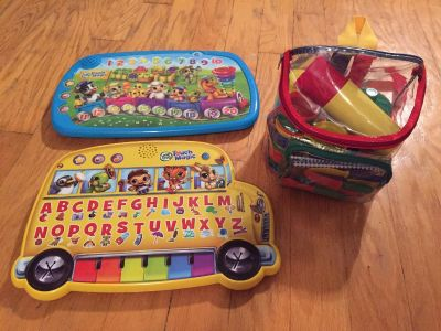 Toddler Toys! Leap Frog Touch Magic Learning Bus & Counting Train! Picnic Backpack!