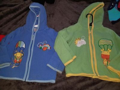 HANNA ANDERSSON SZ 90 (3T) HOODED SWEATERS GUC $12 EACH OR 20 BOTH