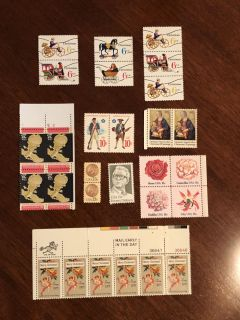 Assortment of Very Old Unused Stamps