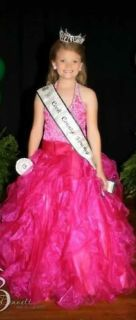 Size 8 floral pageant dress