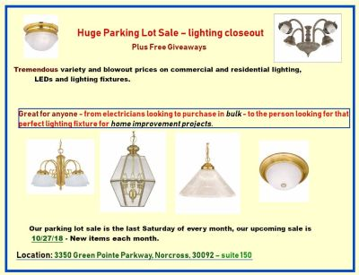 Huge parking lot sale - lighting closeout