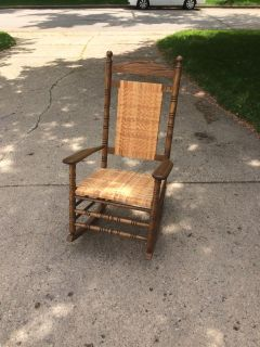 Amish solid wood rocking chair