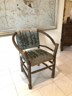 Old Hickory Rustic Chair, Lake House, Mountain Cabin