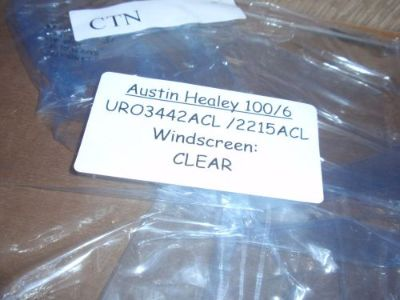 Purchase 1956-62 Austin Healey 100-6/ 3000 MkI, II New Clear Windshields $185 EA motorcycle in Andover, Massachusetts, United States, for US $185.00